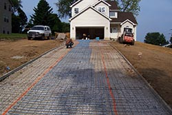 installation of heated driveway systems snow melting systems heated driveway being installed
