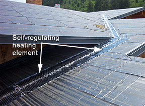 Installing Roof Deicing System